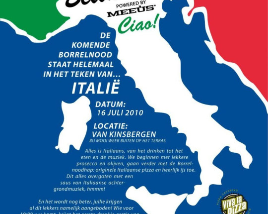 Borrelnood 16 juli Bella Italia