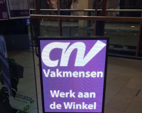 Pop-up store van CNV in Oranjerie
