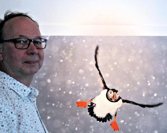 In Beeld: Jan Vermeer geeft met sneeuw cachet aan zomerexpo ACEC
