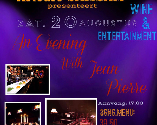 "Artcafe SamSam heeft de primeur: ""An Evening with Jean Pierre"""