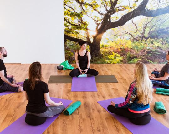 In beeld: Op de mat met Amanda Kraal, eigenaresse van yoga studio 'Happy Yogi'