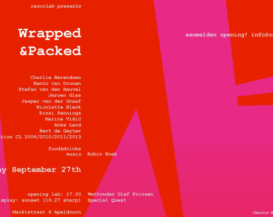cascolab presenteert Wrapped & Packed